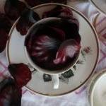 Burgundy Vintage Tea-cup with petal..